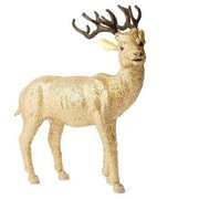 Arcadia Home Golden Reindeer w/ Glass Beads