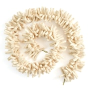 Arcadia Home Hand Felted Wool ''Noodles'' Garland; Cream