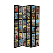 Oriental Furniture 71'' x 38.75'' Tall Double Sided Tarot Canvas 3 Panel Room Divider