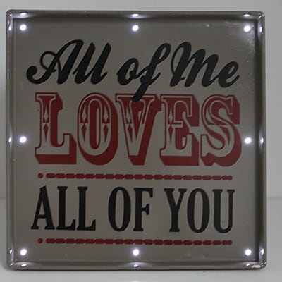 Fetco Home Decor Light Up All of Me Textual Art Plaque