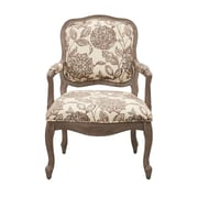Madison Park Monroe Camel Back Exposed Wood Armchair