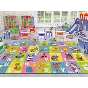 Kev & Cooper Playtime Machine Woven Multi-Colored Indoor/Outdoor Area Rug; 3'3'' x 4'7''