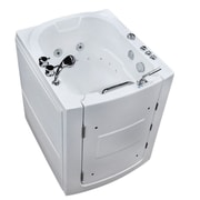 Therapeutic Tubs Durango 38'' x 32'' Walk-In Air and Whirlpool Jetted Bathtub; Right