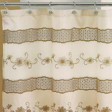 Sweet Home Collection Veronica Shower Curtain