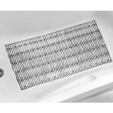 Sweet Home Collection Bathtub Mat; Gray