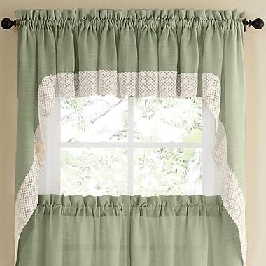 Sweet Home Collection Salem Kitchen Swag Curtain Valance (Set of 2); Sage