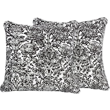 Sweet Home Collection Shiloh Floral Damask Throw Pillow (Set of 2); Gray