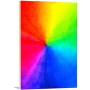 Artzee Designs Modern Rainbow Pride Graphic Art on Wrapped Canvas; 16'' H x 12'' W x 0.75'' D