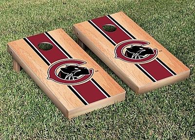 Victory Tailgate NCAA Chapman Panthers Hardcourt Stripe Version Cornhole Game Set