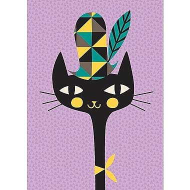 GreenBox Art 'Modern Kitty' by Amy Blay Graphic Art on Canvas; 18'' H x 14'' W