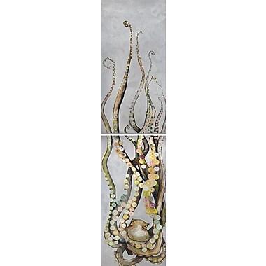 GreenBox Art 'Octopus Diptych' by Eli Halpin Painting Print on Canvas; 48'' H x 24'' W