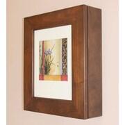 Concealed Cabinet 20'' x 17'' Surface Mount Picture Frame Medicine Cabinet; Caramel