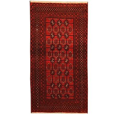 Herat Oriental Balouchi Tribal Balouchi Hand-Knotted Red/Navy Area Rug