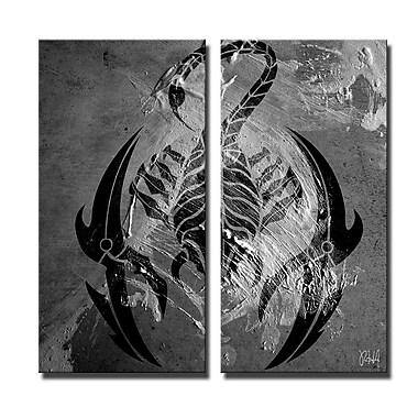 Ready2hangart 'Born2BWild XI' 2 Piece Graphic Art on Canvas Set; 40'' H x 20'' W x 1.5'' D