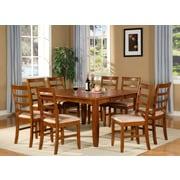 Wooden Importers Parfait 7 Piece Dining Set; Saddle Brown
