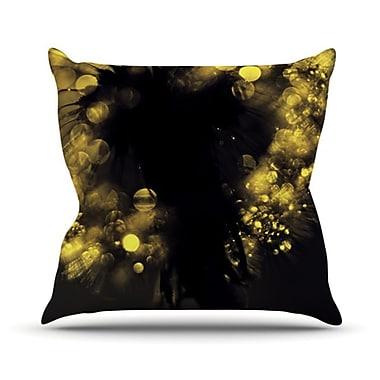 KESS InHouse Moonlight Dandelion Throw Pillow; 18'' H x 18'' W