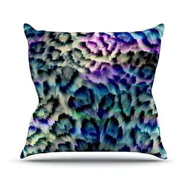 KESS InHouse Wild Throw Pillow; 18'' H x 18'' W