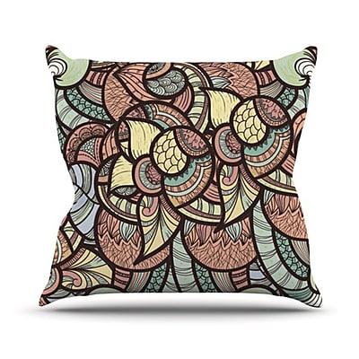 KESS InHouse Wild Run Throw Pillow; 20'' H x 20'' W