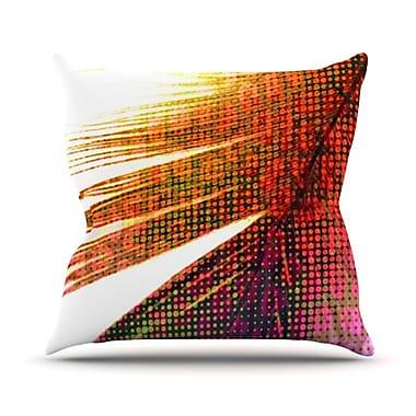 KESS InHouse Feather Pop Throw Pillow; 18'' H x 18'' W