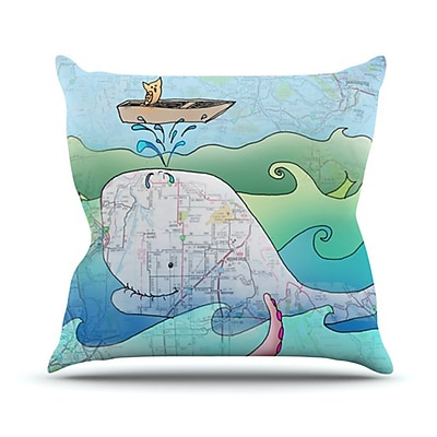 KESS InHouse I'm on a Boat Throw Pillow; 20'' H x 20'' W