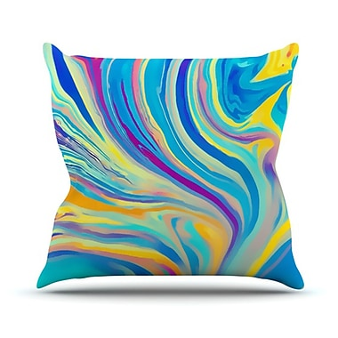 KESS InHouse Rainbow Swirl Throw Pillow; 20'' H x 20'' W