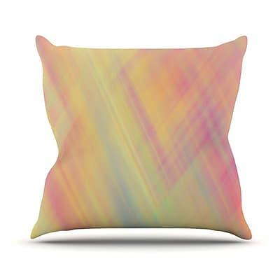 KESS InHouse Pastel Abstract Throw Pillow; 18'' H x 18'' W