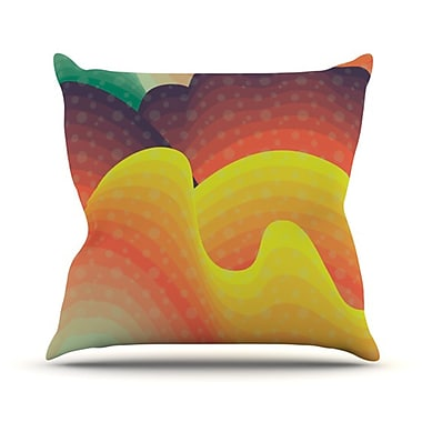 KESS InHouse Waves, Waves Throw Pillow; 26'' H x 26'' W
