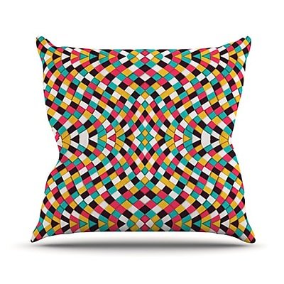 KESS InHouse Retro Grade Throw Pillow; 26'' H x 26'' W