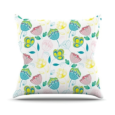 KESS InHouse Indie Floral Throw Pillow; 18'' H x 18'' W