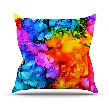 KESS InHouse Sweet Sour II Throw Pillow; 18'' H x 18'' W