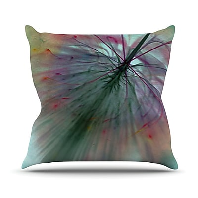 KESS InHouse Fleur Throw Pillow; 18'' H x 18'' W