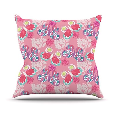 KESS InHouse Baroque Butterflies Throw Pillow; 20'' H x 20'' W