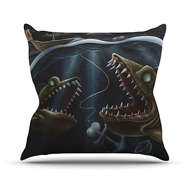 KESS InHouse Sink or Swim Throw Pillow; 18'' H x 18'' W x 4.1'' D