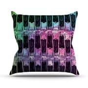 KESS InHouse Paint Tubes II Throw Pillow; 18'' H x 18'' W