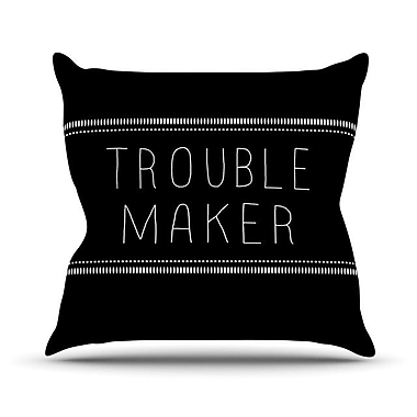 KESS InHouse Trouble Maker Throw Pillow; 18'' H x 18'' W