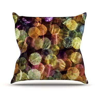 KESS InHouse Warm Sparkle Throw Pillow; 18'' H x 18'' W