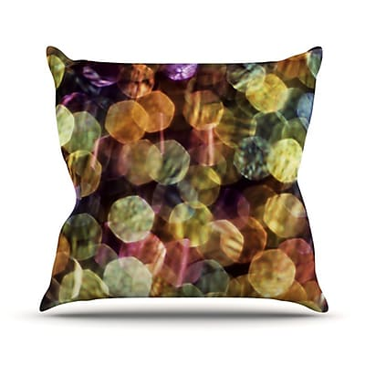 KESS InHouse Warm Sparkle Throw Pillow; 20'' H x 20'' W