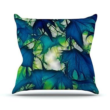 KESS InHouse Leaves Throw Pillow; 20'' H x 20'' W