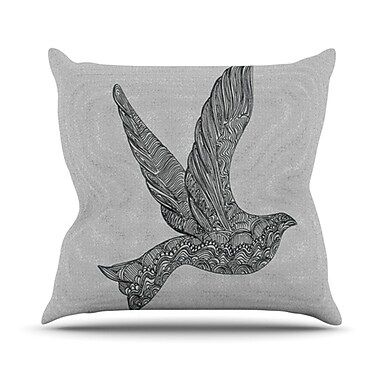 KESS InHouse Dove Throw Pillow; 20'' H x 20'' W