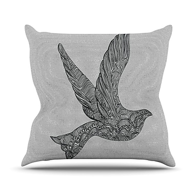 KESS InHouse Dove Throw Pillow; 18'' H x 18'' W