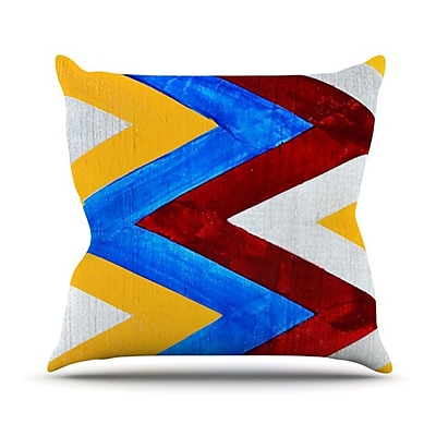 KESS InHouse Zig Zag Throw Pillow; 18'' H x 18'' W