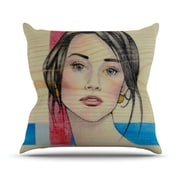 KESS InHouse Face Throw Pillow; 18'' H x 18'' W