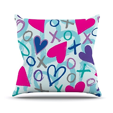 KESS InHouse Hearts A Flutter Throw Pillow; 26'' H x 26'' W x 5'' D