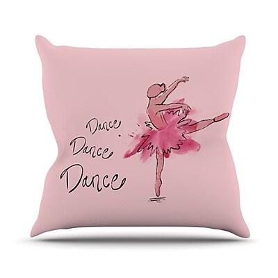 KESS InHouse Ballerina Throw Pillow; 26'' H x 26'' W