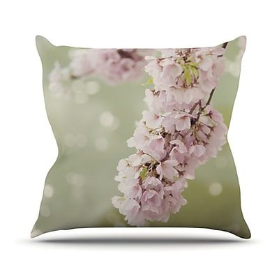 KESS InHouse Blossom Throw Pillow; 18'' H x 18'' W
