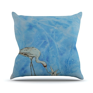KESS InHouse Crane Throw Pillow; 26'' H x 26'' W
