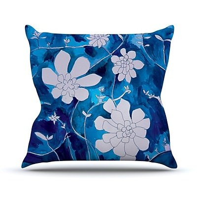KESS InHouse Succulent Dance 1 Throw Pillow; 20'' H x 20'' W