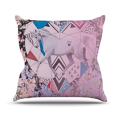 KESS InHouse Unicorn Throw Pillow; 18'' H x 18'' W