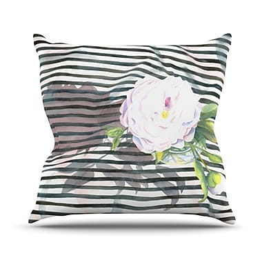 KESS InHouse Peony N Throw Pillow; 18'' H x 18'' W