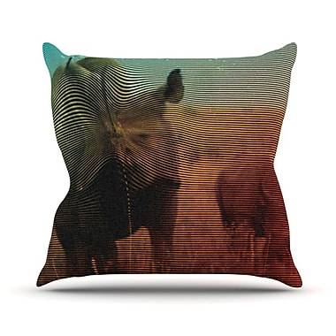 KESS InHouse Abstract Rhino Throw Pillow; 26'' H x 26'' W